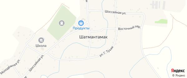 Речной переулок на карте села Шатмантамака с номерами домов