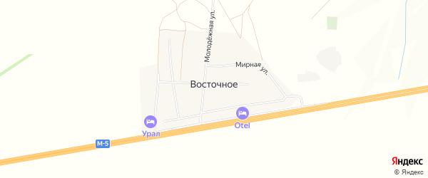 Карта Восточного села в Башкортостане с улицами и номерами домов