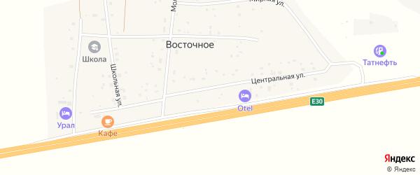 Центральная улица на карте Восточного села с номерами домов