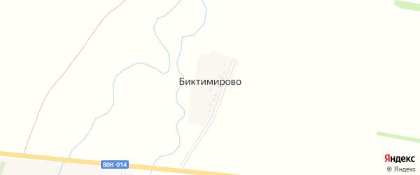 Полевая улица на карте деревни Биктимирово с номерами домов
