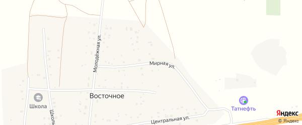 Мирная улица на карте Восточного села с номерами домов