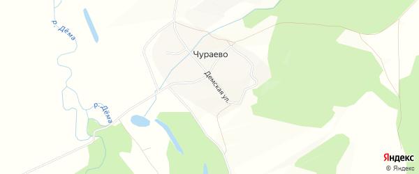 Карта деревни Чураево в Башкортостане с улицами и номерами домов