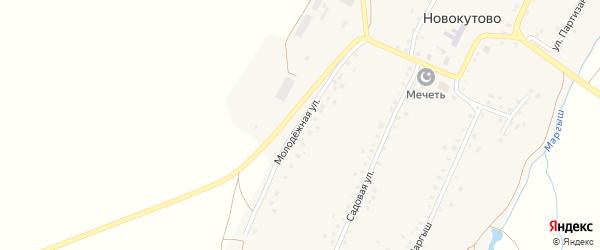 Молодежная улица на карте села Новокутово с номерами домов