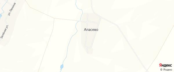 Карта деревни Апасево в Башкортостане с улицами и номерами домов
