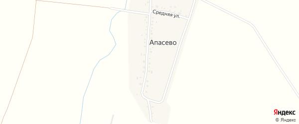 Средняя улица на карте деревни Апасево с номерами домов