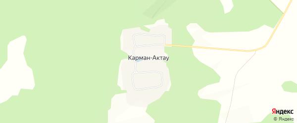 Карта села Кармана-Актау в Башкортостане с улицами и номерами домов