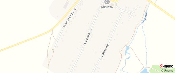 Садовая улица на карте села Новокутово с номерами домов