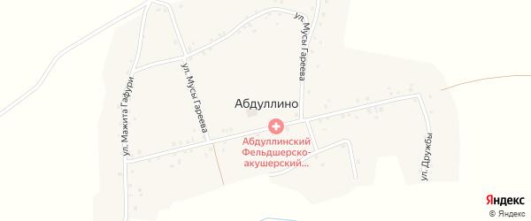 Улица Дружбы на карте деревни Абдуллино с номерами домов