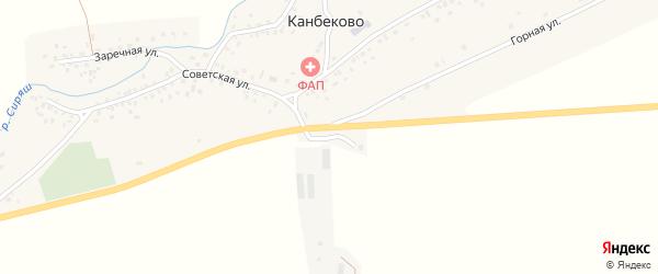 Полевая улица на карте села Канбеково с номерами домов