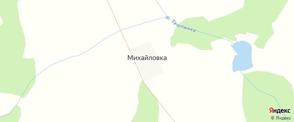 Центральная улица на карте деревни Михайловки с номерами домов