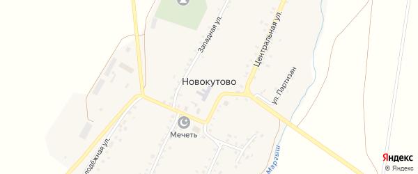 Короткая улица на карте села Новокутово с номерами домов