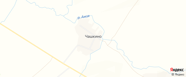 Карта деревни Чашкино в Башкортостане с улицами и номерами домов