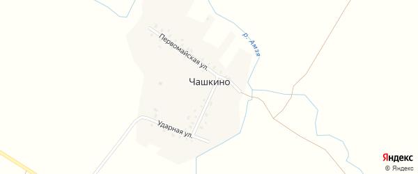 Ударная улица на карте деревни Чашкино с номерами домов