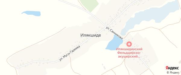 Улица С.Санникова на карте деревни Илякшиде с номерами домов