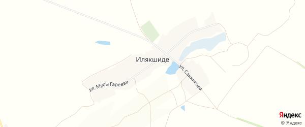 Карта деревни Илякшиде в Башкортостане с улицами и номерами домов