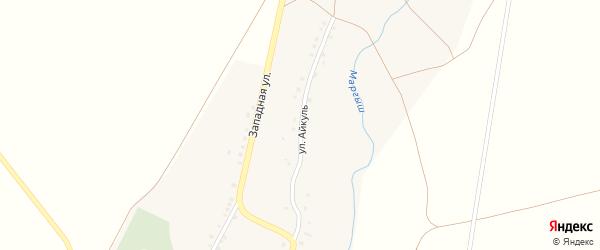 Улица Айкуль на карте села Новокутово с номерами домов