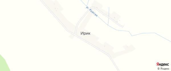 Горная улица на карте деревни Ирика с номерами домов