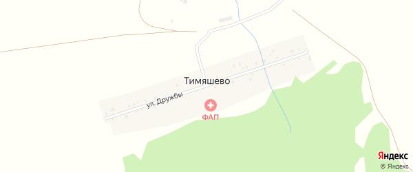 Улица Дружбы на карте деревни Тимяшево с номерами домов