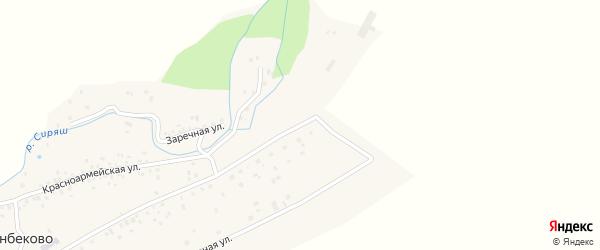 Горная улица на карте села Канбеково с номерами домов