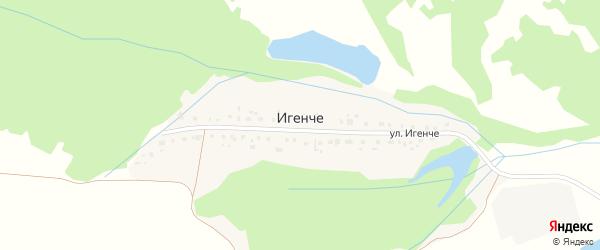 Лесная улица на карте деревни Игенче с номерами домов