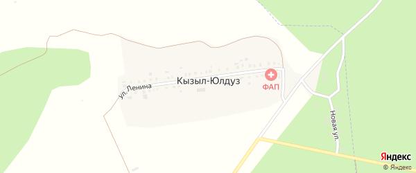 Улица Гагарина на карте деревни Кызыла-Байрака с номерами домов