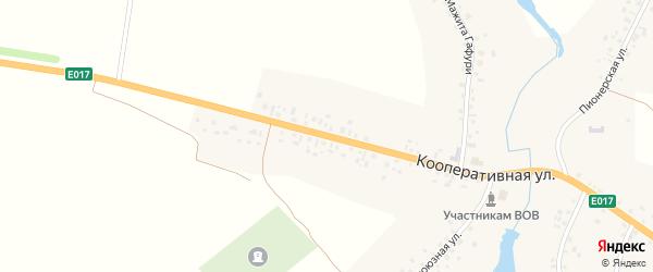 Кооперативная улица на карте села Лаяшт с номерами домов