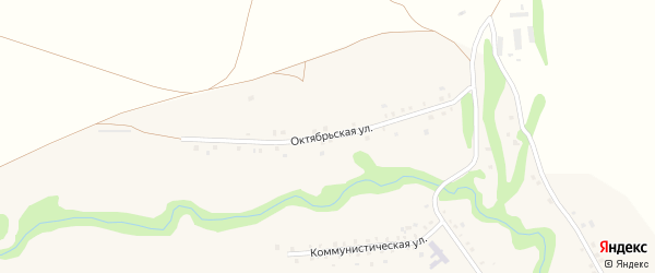 Октябрьская улица на карте села Рапатово с номерами домов