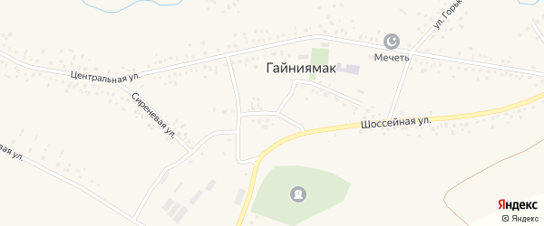 Пришкольная улица на карте села Гайниямака с номерами домов