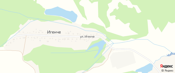 Улица Игенче на карте деревни Игенче с номерами домов