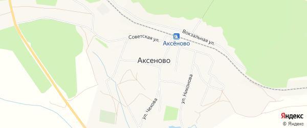 Карта села Аксеново в Башкортостане с улицами и номерами домов