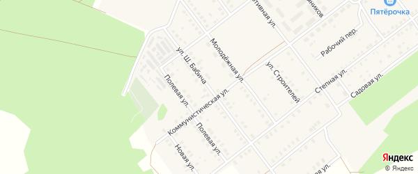 Улица Ш.Бабича на карте села Семилетки с номерами домов