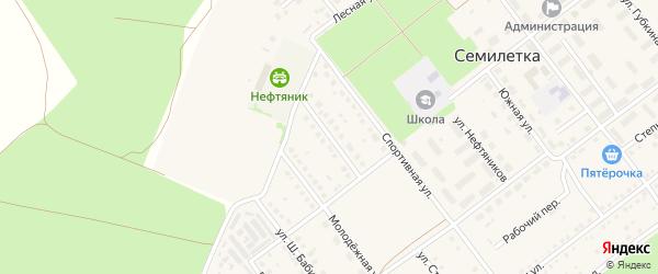 Улица Строителей на карте села Семилетки с номерами домов