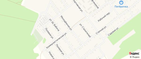 Молодежная улица на карте села Семилетки с номерами домов