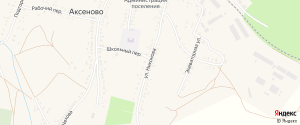 Улица Никонова на карте села Аксеново с номерами домов