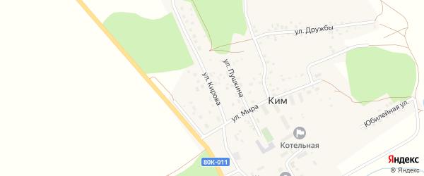 Улица Кирова на карте села Кима с номерами домов