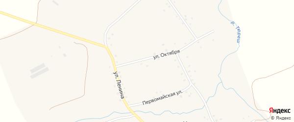 Улица Октября на карте села Кузеево с номерами домов