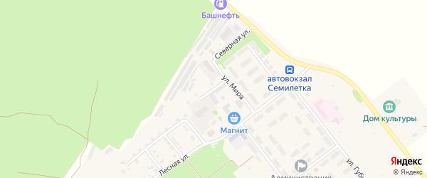 Лесная улица на карте села Семилетки с номерами домов