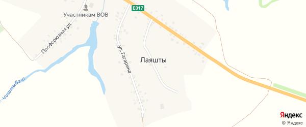 Профсоюзная улица на карте села Лаяшт с номерами домов