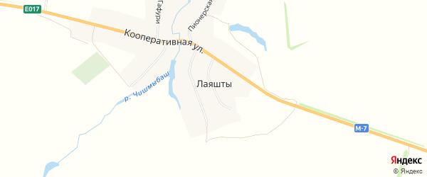 Карта села Лаяшт в Башкортостане с улицами и номерами домов