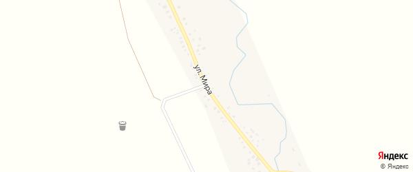 Улица Мира на карте села Сараево с номерами домов