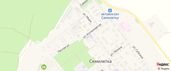 Улица Космонавтов на карте села Семилетки с номерами домов