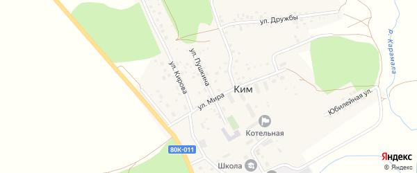 Улица Пушкина на карте села Кима с номерами домов