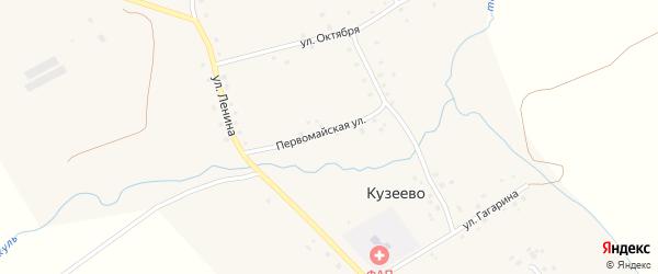 Первомайская улица на карте села Кузеево с номерами домов