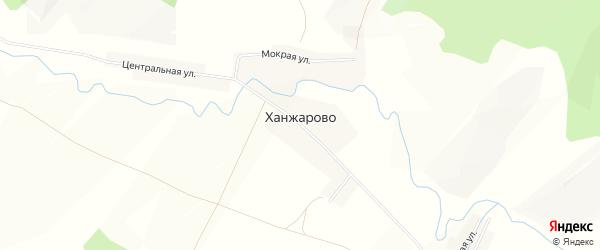 Карта деревни Ханжарово в Башкортостане с улицами и номерами домов