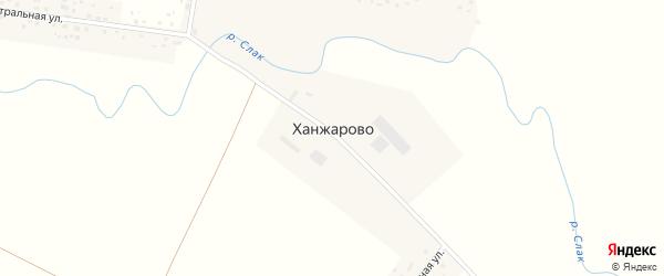Центральная улица на карте деревни Ханжарово с номерами домов