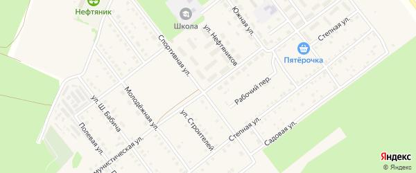 Коммунистическая улица на карте села Семилетки с номерами домов