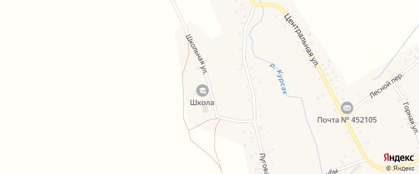 Школьная улица на карте села Сараево с номерами домов