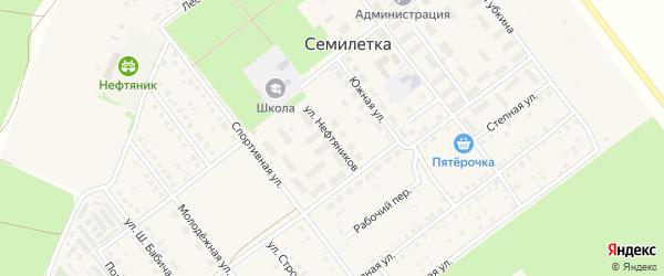 Улица Нефтяников на карте села Семилетки с номерами домов