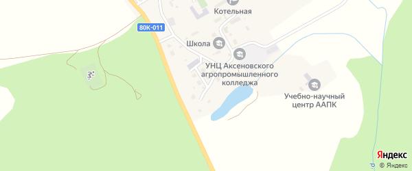 Прудная улица на карте села Кима с номерами домов