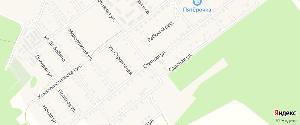 Степная улица на карте села Семилетки с номерами домов